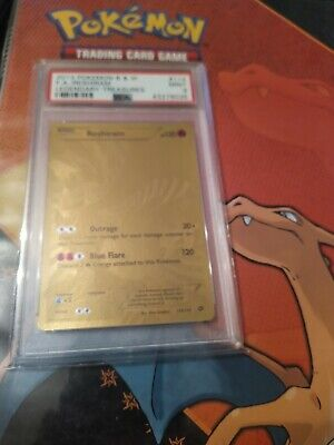 PSA 9 MINT Reshiram Pokemon Card, 114/113, Legendary Gold Full Art Secret Rare