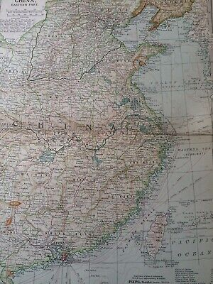 1903 China (Eastern Part) Original Antique Map Vintage Wall map