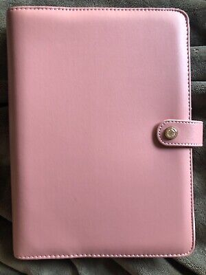 Websters Pages A5 Planner 6 Ring Binder Patent Petal Pink Calendar Inserts