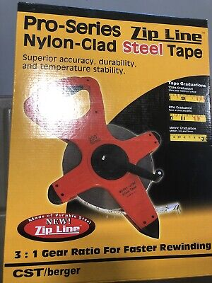 Cst Berger Nylon-clad Steel Tape 50meters 82-50mb Free Shipping