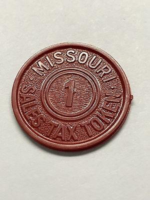 Missouri Sales Tax Token Red Plastic Unc. #5185