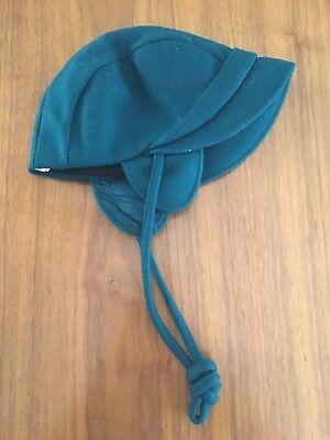 Vintage Blue Green Rothschild Wool Hat Bonnet Cap Ear Flaps Child Kids Sz 6 Rothschild Hat