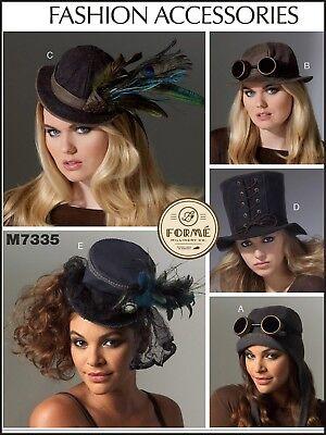 M7335 Mccall's 7335 Nähmuster Hüte Steampunk Aviator Burlesque Kabarett XS-L