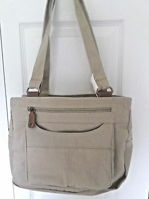 Handle Hobo Handbag - JACLYN DOUBLE HANDLE DENIM  HOBO HANDBAG,  TAN, NWT(REDUCED PRICE 3 DAYS)