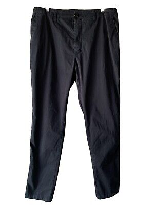 Acne Studios Ayan Satin Chino Trousers Pants Navy Blue Men's EU 50 US 34