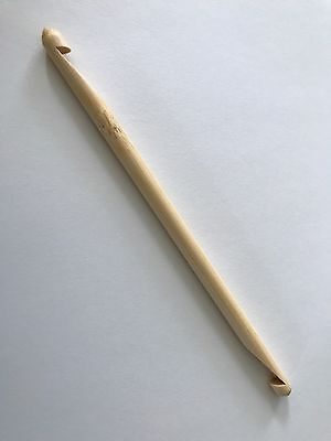 Double Ended Tunisian Bamboo Crochet Hook Size J 6.0mm US 10 Needle End 6mm