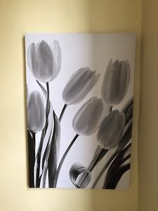 Black and white print wall art painting