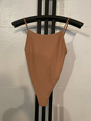 Nude Flesh Tone Forever 21 One Piece Swim Bathing Suit Size Small
