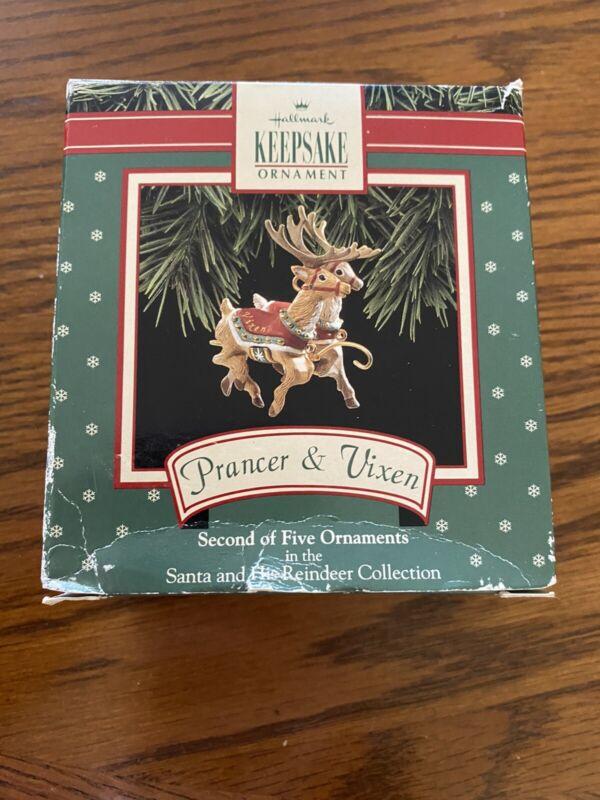 Hallmark - Second  - Prancer & Vixen  - Santa and his Reindeer - Circa 1992