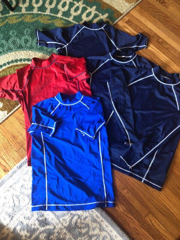 Lands End Swim Shirt Rash Guard Lot Of 5 Kids Size L 14-16