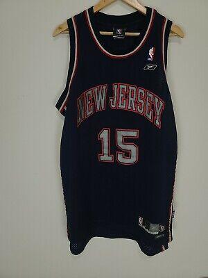 Vintage Reebok NBA New Jersey Nets Vince Carter Basketball Jersey size Large