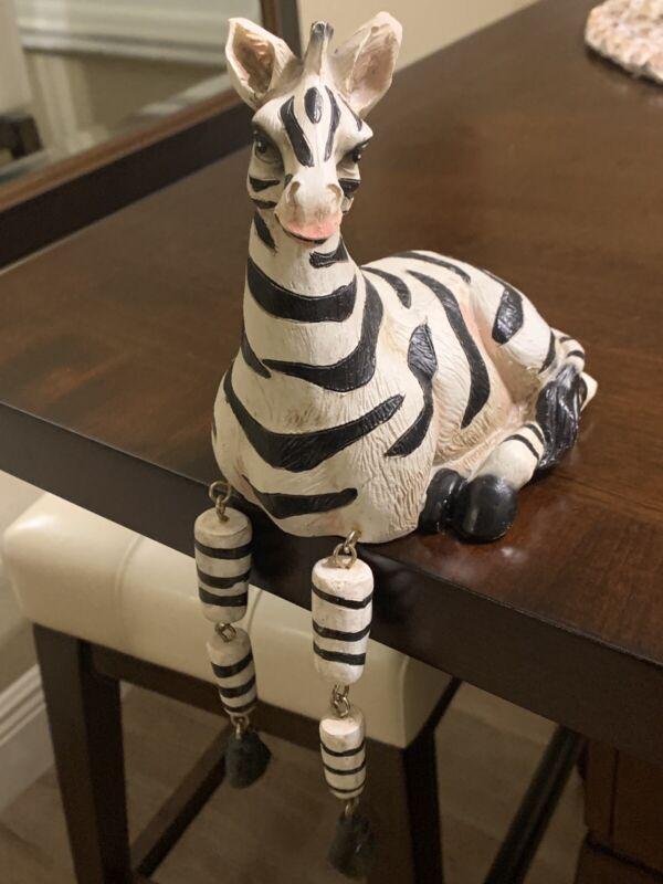 Adorable Zebra Shelf Sitter Figurine Home View Designs