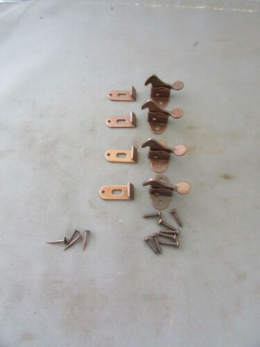 Lot of (4) VTG Elbow Latch Catch Hoosier Cabinet Cupboard Hardware NOS w/ screws
