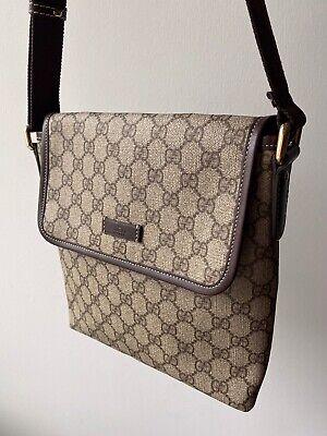 Gucci Brown Messenger Bag Tan Brown Retail $895.00