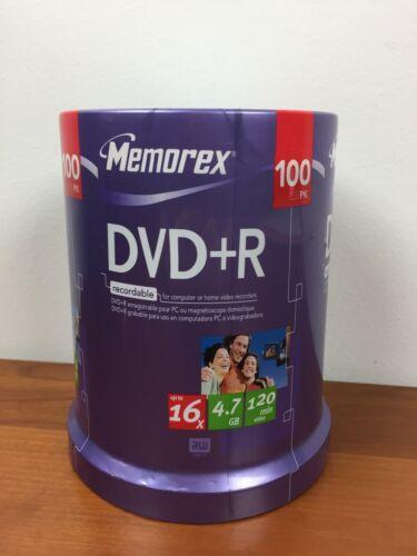 Memorex 100 Pack DVD-R 16x 4.7GB 120 min Recordable Media Discs - NEW