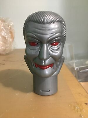 Vintage Blow Mold Dracula Head Halloween Vampire Plastic