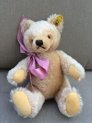 """Steiff Jointed Teddy Bear 9"""" Button in Ear 0201/26 Light Beige"""