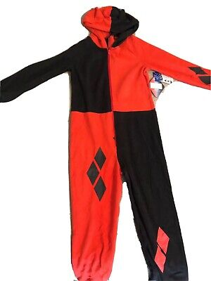 Harley Quinn Outfits (DC Girls' Harley Quinn Costume One Piece Union Suit Pajama Outfit 6/6X)