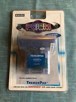 Nintendo 64 N64 CONTROLLER TREMOR PAK RUMBLE Blue Colored - NEW SEALED comprar usado  Enviando para Brazil