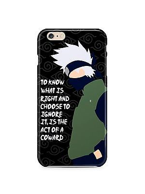 Naruto Kakashi Quotes Iphone 4s 5s 5c 6S 7 8 X XS Max XR Plus Case Cover SE 24 ()