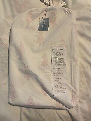 RACHEL ASHWELL COUTURE King Flat Sheet CHANDELIER CREST Pink SHABBY ()