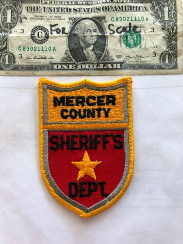 Mercer County North Dakota Police Patch un-sewn in great shape