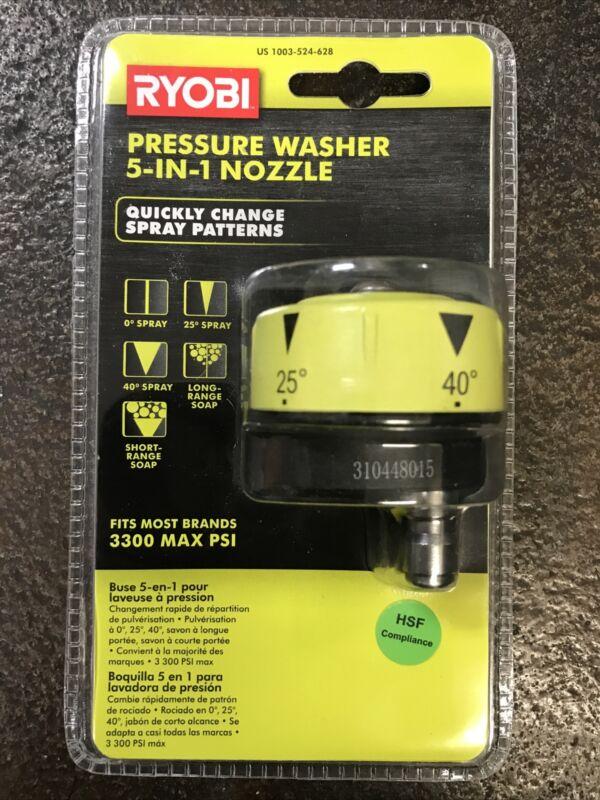 Ryobi 1003-524-628 Pressure Washer 5-IN-1 Nozzle New