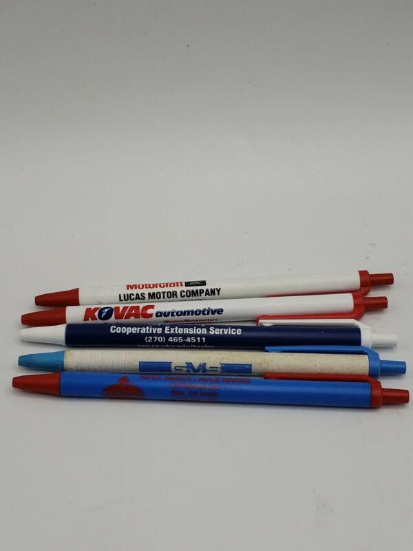 Lot Of 5 Advertising Click Pens Kovac Automotive