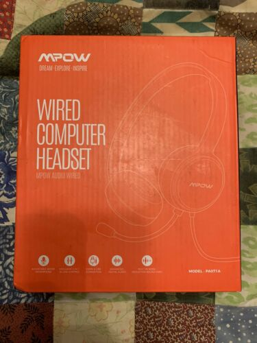 MPOW Wired USB Computer Headset. Model PA071A - $14.99