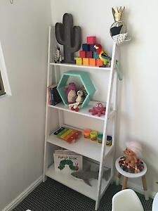 White ladder bookshelf Warriewood Pittwater Area Preview