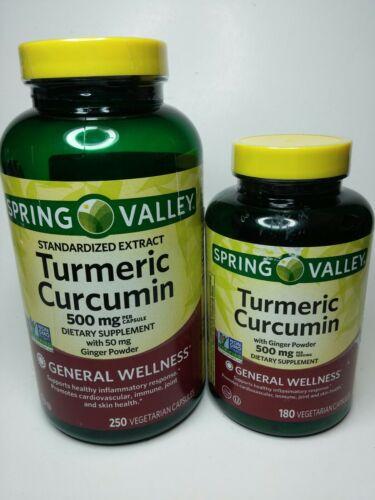 Spring Valley Turmeric Curcumin Wellness Ginger Powder 180 V