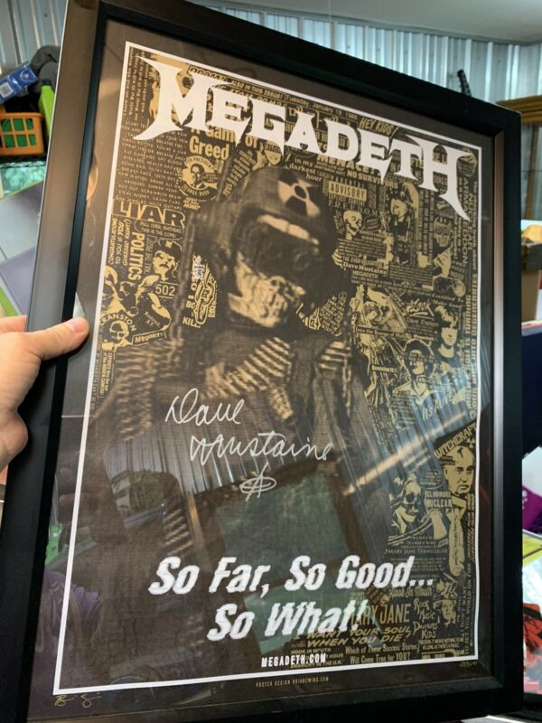 Megadeth Limited Edition Print Signed Autographed By Dave Mustaine