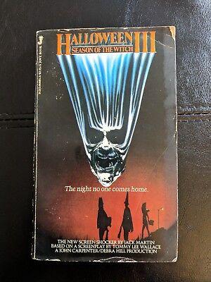 Halloween 3 III Season Of The Witch Paperback Novel 1982 Jack Martin Rare - Halloween 3 1982