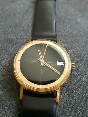 "VINTAGE""THE ANGUS"" NEW OLD STOCK. MEN'S MECHANICAL 17 JEWELS GOLD PLATED WATCH."