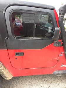 Jeep Tj Red half doors