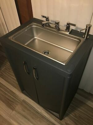 Portable Sink Mobile Handwash Sink Self Contained Cold Water Full Size. Daycare