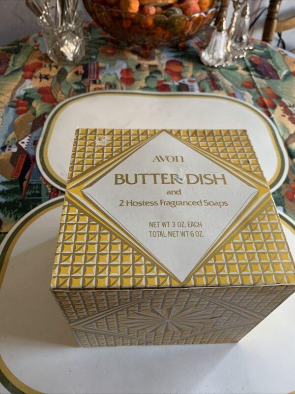Vintage 1973-74 Avon Butter Dish & Hostess Soaps