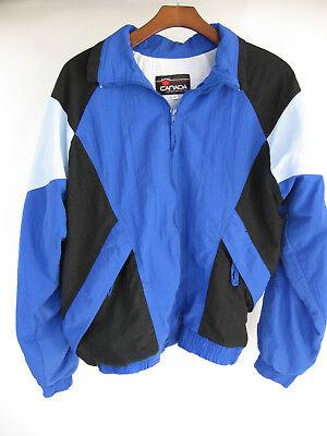 Canada Sportswear Co. L Blue Black Windbreaker Track Top Jacket sz (Tracking Canada)