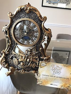 Cogsworth Live Action Limited Edition Clock - Beauty and the Beast New in Box