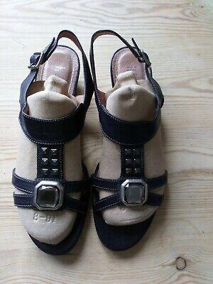 Ladies Black Hispanitas Sandals Size 40.
