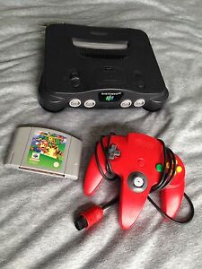 Nintendo 64 console - red controller - super mario Norwood Norwood Area Preview
