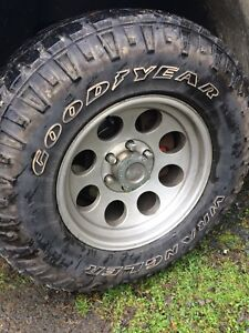 Pro Comp rims with Goodyear Wrangler tires