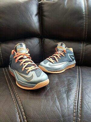47d57bad8745 Nike Air Max Lebron XI 11 Low Lava Magnet Grey Orange 642849 002 Mango size  9