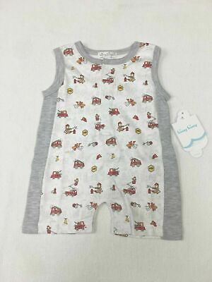 Kissy Kissy Baby Jumpsuit Sleeveless White Gray Grey Red Fir