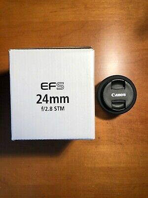 Canon EF-S 24mm f/2.8 STM Lens - With Original Box, Barely Used! Priced to move.