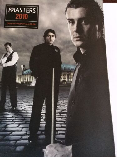 SNOOKER - 2010 Masters Official Programme @ Wembley c/w Signatures and Tickets