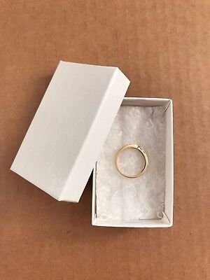 Usa Made Boxit Jewelry Boxes Cotton Filled 21 White Krome 2-12 X 1-12 X 78