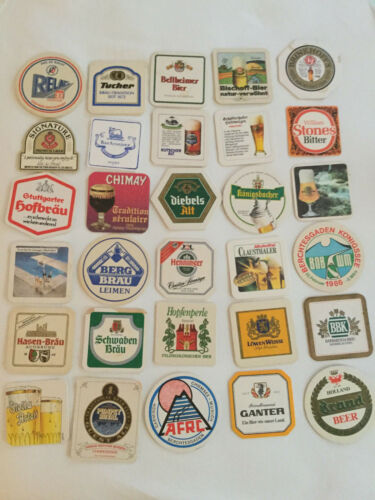 Vintage Beer Mats Coasters Lot of 30