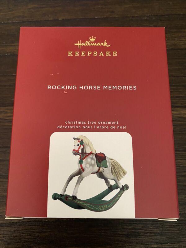 "Hallmark  Keepsake Ornament 2020 ""Rocking Horse Memories"" 1st in Series"