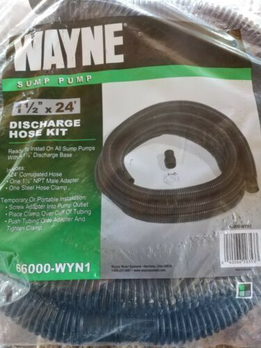 WAYNE 66000-WYN1 1-1/2 in. by 24 ft. Sump Discharge Hose Kit